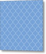 Little Boy Blue Quatrefoil Metal Print
