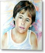 Little Boy From Tahiti Metal Print