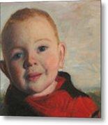 Little boy in red Metal Print