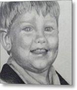 Little Boy Portrait Metal Print