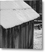 Little Brown Shed Metal Print