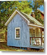 Little Cabin In The Country Pine Barrens Of New Jersey Metal Print