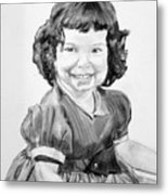 Little Cathy Metal Print