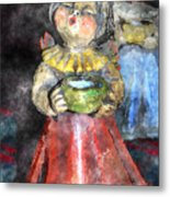 Little Christmas Angel-abstract Metal Print by Patricia Motley