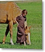 Little Country Girl Metal Print