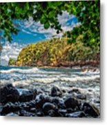 Little Cove On Hawaii' Metal Print