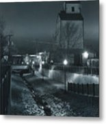 Little Creek Walkway To Old Mill Metal Print