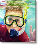 Little Diver Metal Print