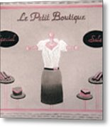 Little Dress Shop Metal Print