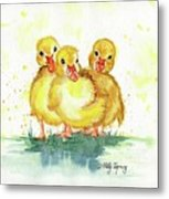 Little Ducks Metal Print
