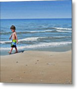 Little Explorer Metal Print
