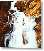 Little Firehole Falls Metal Print