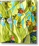 Little Fish Big Pond Metal Print