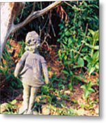 Little Flowergirl Metal Print