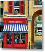 Little French Book Store Metal Print