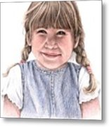 Little Girl Metal Print