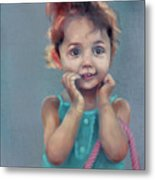 Little Girl With Purse Metal Print