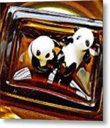 Little Glass Pandas 43 Metal Print