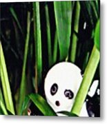 Little Glass Pandas 59 Metal Print
