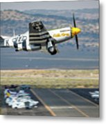 P51 Mustang Little Horse Gear Coming Up Friday At Reno Air Races 5x7 Aspect Metal Print