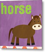 Little Horse Metal Print by Linda Woods