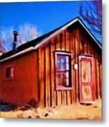 Little House In Lincoln Metal Print