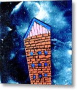 Little House In The Cosmos Metal Print