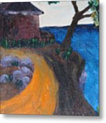 Little House On Hill Metal Print