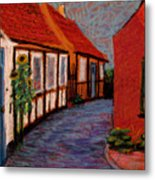 Little Houses On Bornholm Island Metal Print