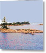 Little Island Ae Painting 2 Metal Print