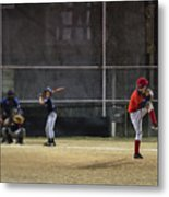 Little League Baseball Metal Print