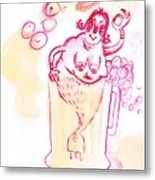little Mermaid in the Beer - La Sirenetta alla Spina Metal Print