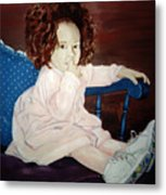 Little Miss Hassler Metal Print