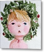 Little Miss Merry Metal Print