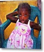 Little Orphan Girl Metal Print