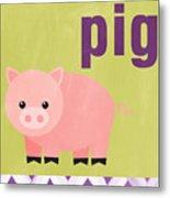 Little Pig Metal Print