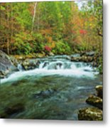 Little Pigeon River Flows In Autumn In The Smoky Mountains Metal Print