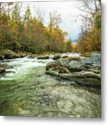 Little Pigeon River Greenbrier Area Of Smoky Mountains Metal Print