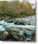 Little Pigeon River In Autumn In Smoky Mountains In Autumn Metal Print
