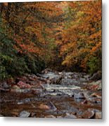 Little Pigeon River In Autumn Metal Print