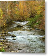 Little Pigeon River In Fall Smoky Mountains National Park Metal Print