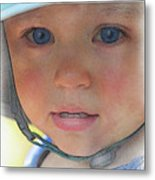 Little Pilgrim Myles Alden At 1yo Metal Print