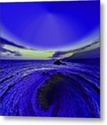 Little Planet Blue Metal Print