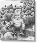 Little Pumpkin Metal Print