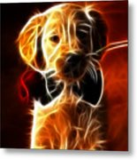 Little Puppy In Love Metal Print by Pamela Johnson