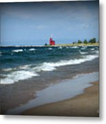 Little Red Lighthouse Metal Print by Trina Prenzi