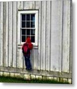 Little Red Peeping Tom Metal Print