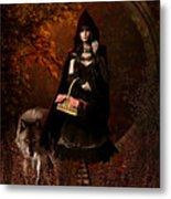 Little Red Riding Hood Gothic Metal Print