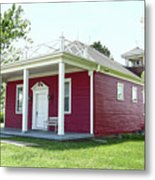 Little Red Schoolhouse, Council Grove Metal Print