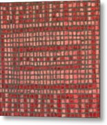 Little Red Tiles Metal Print